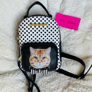 Betsey Johnson Mini Cat Backpack